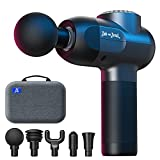 Massage Gun, Bob and Brad Deep Tissue Percussion Massager Gun, Muscle Massager with 5 Speeds and 5 Heads, Handheld Electric Massager for Professional Athletes Home Gym Workout Recovery Pain Relief