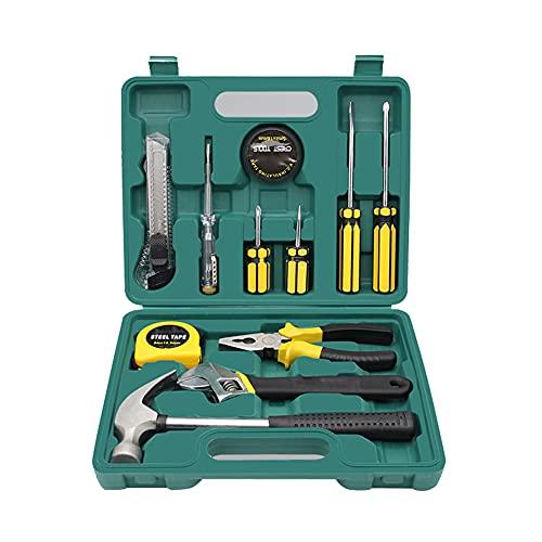 Kit de herramientas 12 en 1 con caja de herramientas llave inglesa destornillador Juego de bolígrafos capacitivos Bricolaje Casa Kits de herramientas Juego de herramientas de reparación universal