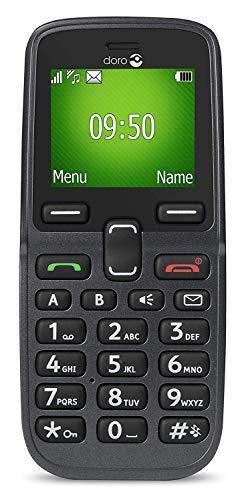Doro PhoneEasy 613 Mobiltelefon im eleganten Klappdesign (2 Megapixel Kamera, große Tasten und Display, Notruftaste) graphit-weiß