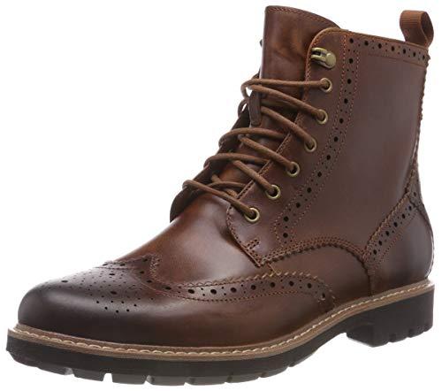 Clarks Men's Batcombe Lord Chelsea Boots, Braun (Dark Tan Leather), 42.5 EU