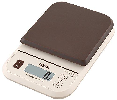 タニタ はかり スケール 料理 カロリー 2kg 1g ブラウン KJ-210M BR ごはんのカロリーがはかれる