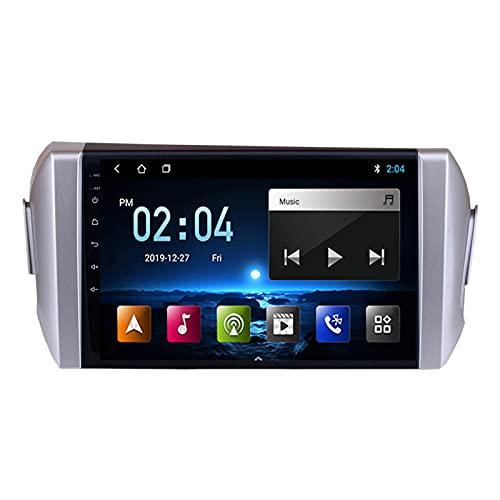 WXFN 2 DIN Car Stereo Radio De Coche De 9 Pulgadas HD Pantalla Táctil Bluetooth Manos Libres Radio 1080P Video con Cámara De Visión Trasera, para Toyota Innova 2015-2018,Quad Core,WiFi 1+32