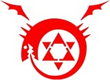 Fullmetal Alchemist - Homunculus Anime Decal Sticker for Car/Truck/Laptop (3.5' x 4.8') (Red)