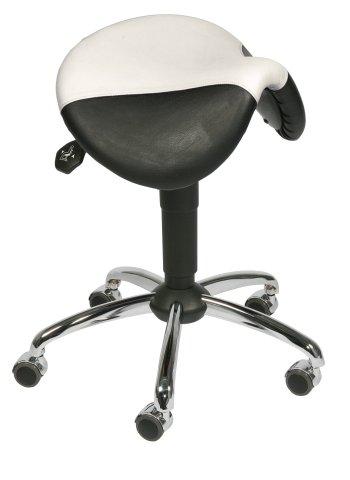 Hocker - Sattelsitz- schwarz-weiß