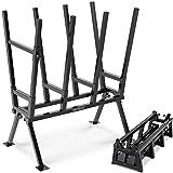 Monzana Sägebock 77x50x105cm 400 kg Belastbarkeit mit Feststellbügel Höhenverstellbar Stahl Holzsägebock Holz Sägehilfe