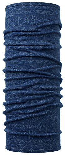 Buff Lightweight Merino Wool Multifunktionstuch, Edgy Denim, One Size