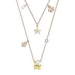 Crystal Ocean Charm Layered Necklace