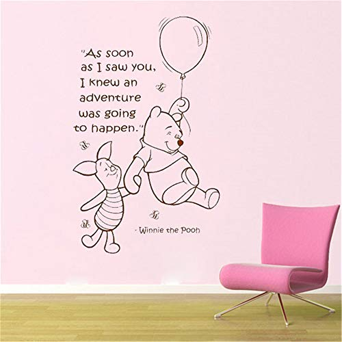 Winnie L'Ourson Sticker WINNIE THE POOH Citations Chambre De Bébé Décoration Chambre de Maman Pour Les Enfants