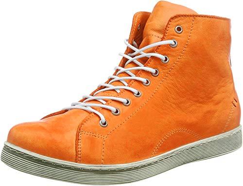 Andrea Conti Schnür-Boots 0341500 High-Top Sneaker Schnürstiefelette, Größe:40 EU, Farbe:Orange