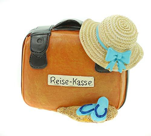 UDO Schmidt GmbH & Co Spardose Reisekoffer 11 cm Koffer Urlaubskasse Urlaub Kasse Sparschwein