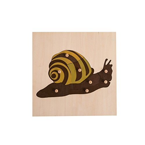 Montessori Nature Nature Snail Puzzle for Early Preschool Learning Toy