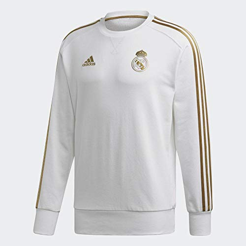 adidas Real Madrid Swt Sudadera, Hombre, Blanco (White/Dark Football Gold), 2XL