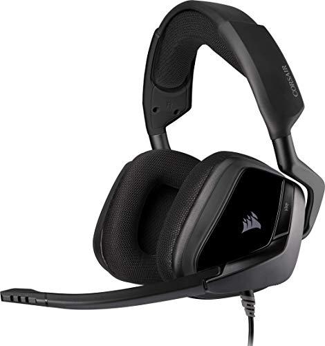 Corsair VOID ELITE Surround Gaming Headset (7.1 Surround Sound, Mikrofaser und Memory-Schaumstoff Ohrpolster, für PC, Xbox One, PS4, Switch und Mobilgeräte) carbon (Generalüberholt)