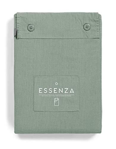 ESSENZA Bettwäsche Guy Uni Baumwolle Renforce Sea Green, 135x200 + 1x 80x80 cm