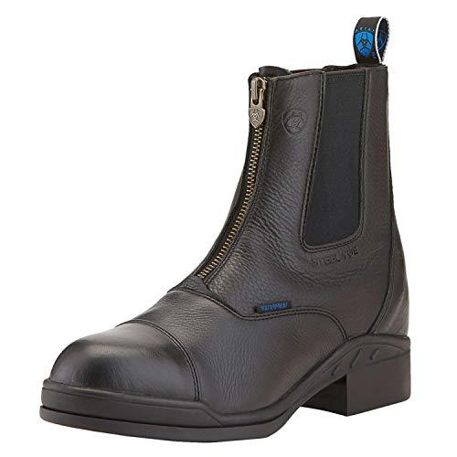 ARIAT Damen Stiefelette Heritage II Zip Steel Toe Cap (mit Reißverschluß vorne), schwarz, 7 (41)