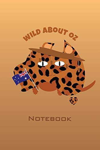 Wild About Australia Animal Print Notebook: An animal print Australian map and cat themed journal with a small illustration and Subject and Date boxes to organise and reference your notes easily.