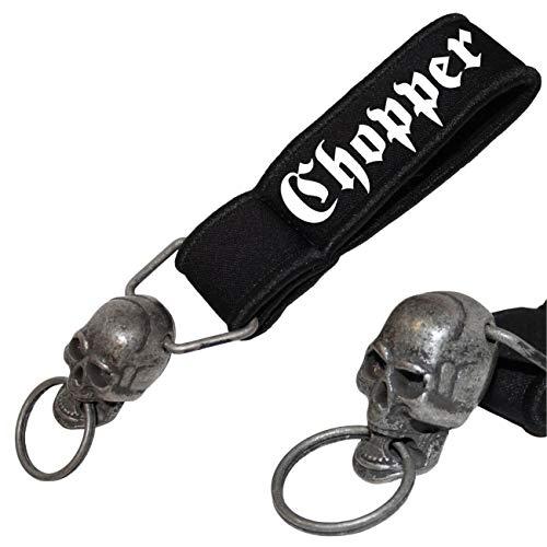 Schwerer Totenkopf Schlüsselanhänger Chopper