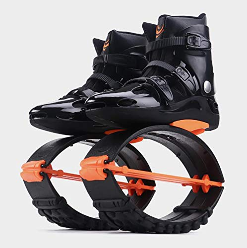 PinkDreamland Zapatos de Salto para Adultos Hombre de Mujer Adulto Ejercicio de Fitness Anti-Gravedad Bounce Boot Boot Shoes Kangoo Jumps Naranja Negro,XXL