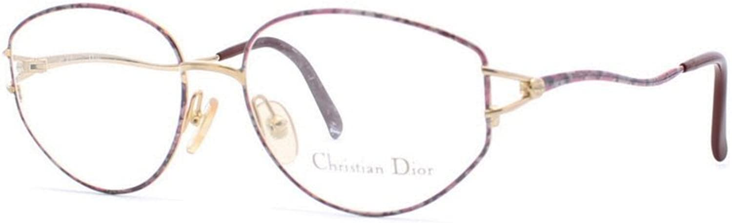 Christian Dior 2014A 45 gold and Purple Authentic Women Vintage Eyeglasses Frame