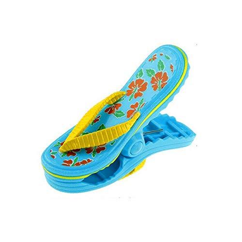 MYSdd 1PCS Plastik Tierhandtuch Windclips Sun Lounger Beach Sunbed Cute Pegs Pool Handtuchclips Wäscheklammer für Kinder - Flip Flop