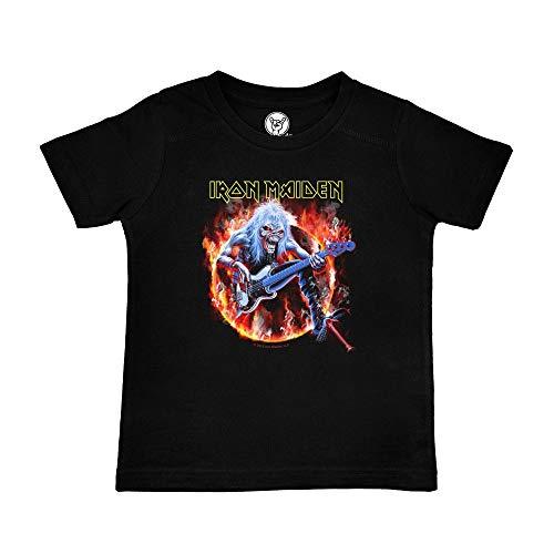 Metal Kids Iron Maiden (Fear Live Flame) - Kinder T-Shirt, schwarz, Größe 140 (10-11 Jahre), offizielles Band-Merch