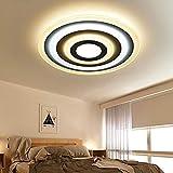 Luz de techo LED con control remoto/regulable luz de color marco de acrílico de color brillo ajustable metal pintado blanco!