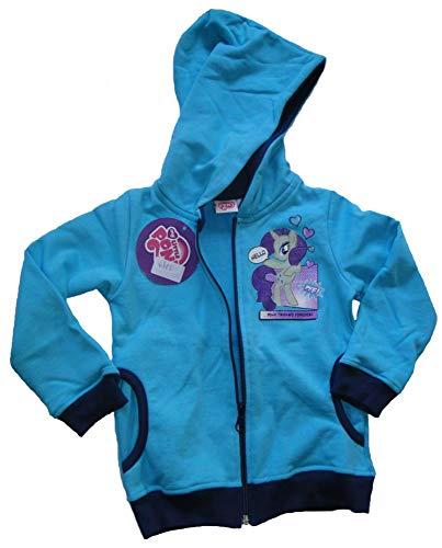 Gatito My Little Pony Mädchen Sweatshirtjacke Kinder Sweatshirt Jacke blau (98, türkis)