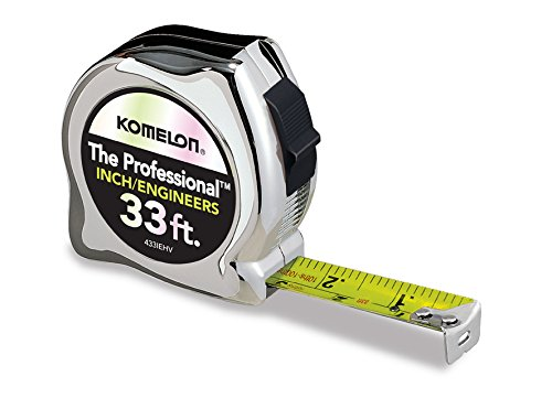 Komelon 33 Feet 433IEHV Professional High-Visibility Tape Measure