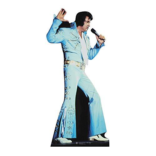 Star Cutouts Pappaufsteller von Elvis Jump Suit (blau)