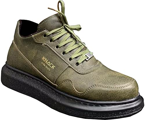 Knack 040 - Zapatos para hombre, estilo informal, para uso diario, ligeros, transpirables, para caminar, color verde (suela negra), Green, 41 1/3 EU