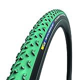 7. MICHELIN, Power Cyclocross Mud, Tire, 700x33C, Folding, Tubeless Ready, GreenCompound, Bead2Bead Protek, 3x120TPI, Green