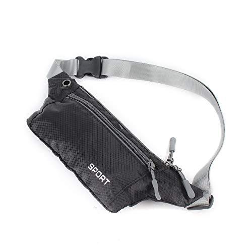 Correa Ajustable sintética Nueva Bolsa de Honda de Bolsillo Unisex Deportes Correr Viajes Seguridad Cintura Riñoneras Negro