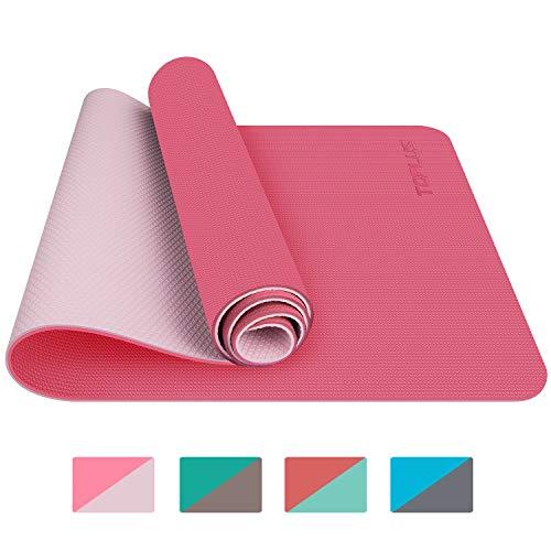 TOPLUS Tapis de Yoga, Tapis Gym - en TPE matériaux Recyclable, Ultra antidérapant et Durable, 183x61x0.6 cm, Non Toxique, Tapis de Sol pour Sport, Fitness (Bleu)