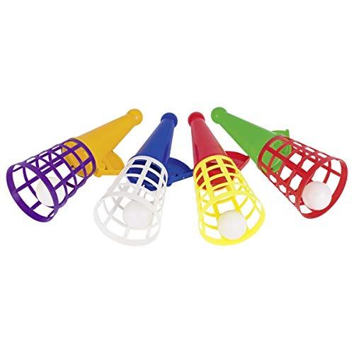 Ameisenkeks® - 4er Pack Fang den Ball groß 18 cm Fangbecher Spiel, ideal für Kindergeburtstag