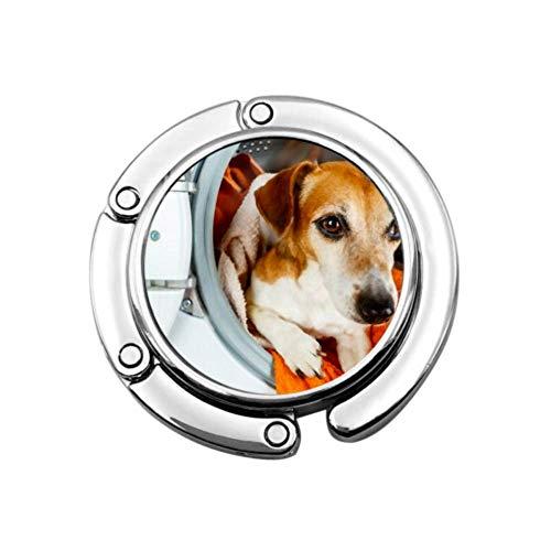 Geldbörsenhaken faltbar Entzückendes Haustier suchen Waschmaschine Wäscheklapphandtasche Tisch Kleiderbügel-Aufhänger Aufhänger-Schreibtischhaken für Geldbörse
