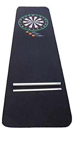 autix Dartteppich Darts Teppich Dartmatte rot/grün mit hoher Abwurfleiste Oche