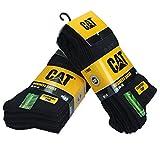 Caterpillar CAT Herren Businesssocken wahlweise 5|10|15|20 Paar, in 39-42/43-46, in Schwarz und/oder Bunt-Mix, große Farb- und Mengenauswahl, Socken (43-46, 10 Paar Schwarz)