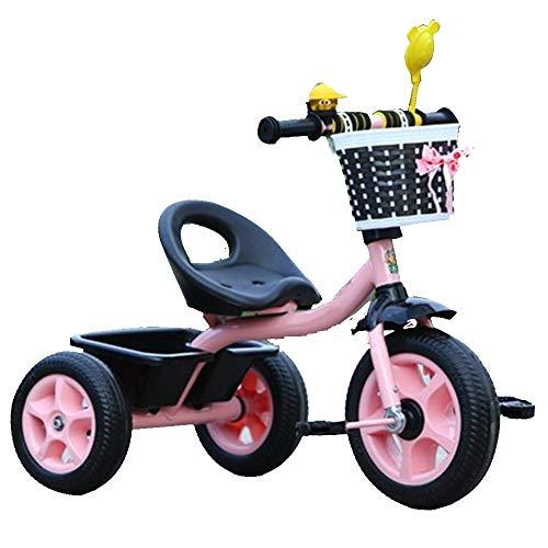 Axdwfd Infantiles Bicicletas Triciclo para niños con Bicicleta de Pedales para niños de 1 a 6 años de Edad, Peso de Carga 50 kg Carro de bebé Niños Juguete para niñas