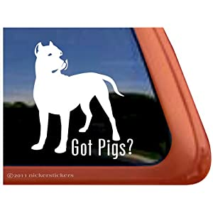 Got Pigs? Dogo Argentino Dog Vinyl Window Decal Dog Sticker 6