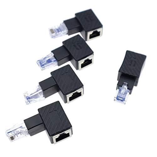 cherrypop 5 unids 90 grados arriba abajo izquierda derecha RJ45 5E 6E Cat7 macho a hembra Lan Ethernet extensión de red
