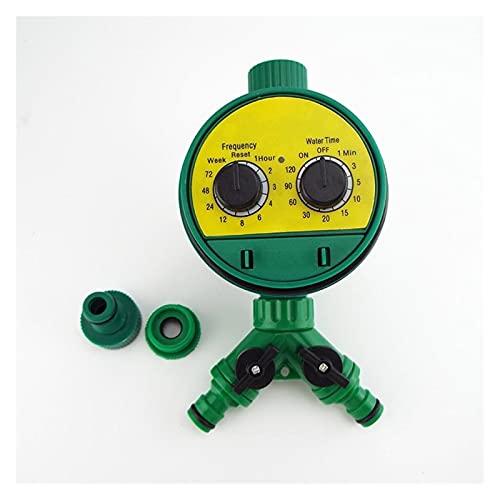 CFDYKRP Controlador de Agua electrónica automática Controlador de riego al jardín Válvula eléctrica Temporizador de Agua Temporizador de Grifo del Adaptador Sistema de riego (Color : Package D)