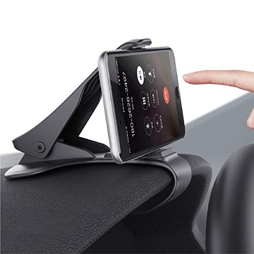 Mate2GO Dashboard Cell Phone Holder, Phone Clip for Car, Phone Clip Holder, Clip on Dash Phone Holder for Car Compatible with iPhone Xs/XS MAX/XR/X/8/8Plus/7/7Plus/6s Galaxy S10/S9/S8/S7/Note
