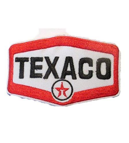 hotrodspirit – Patch aus Texaco in Wappen 9 x 6 cm Aufnäher zum Aufbügeln Garage Jacke Hemd