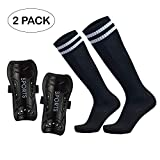 GeekSport Youth Soccer Shin Guards Toddler Soccer Shin Pads USA Child Calf Protective Gear for 3 5 4-6 7-9...
