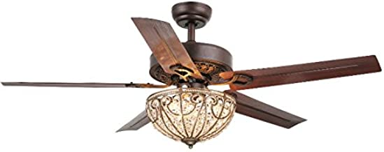 Whse of Tiffany Cfl-8111 Catalina 3-Light Bronze-Finished 5-Blade 48