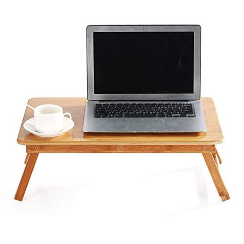 Hhh Laptop Schreibtisch Verstellbare Tabelle Bambus Faltbare Frühstück Serviert Bett Tablett mit Schublade (Size : 55cm(22inch))