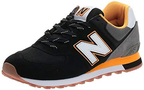 New Balance Herren ML574SKA Sneaker, Black Team Gold, 42.5 EU