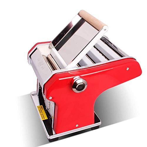 HIGHKAS Nudelmaschine, Italienischer Stil und Design, Nudelmaschine aus rostfreiem Stahl, reibungsloses Rollen und sauberes Schneiden, einschließlich Rollen