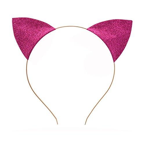 Merroyal Glitter Cat Ears Headband Halloween Fancy Dress Cat Woman...