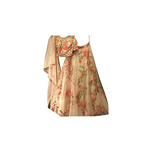 Semi-Stitched Embroidered Lehenga Choli Party Wear Lehenga Choli Traditional...